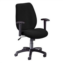 Ergonomic Manager's Office Chair with Adjustable Arms in Ebony