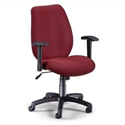 Ergonomic Manager's Office Chair with Adjustable Arms in Burgundy