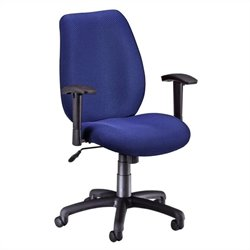 Ergonomic Manager's Office Chair with Adjustable Arm in Ocean Blue