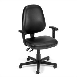 Computer Task Office Chair with Arms in Black