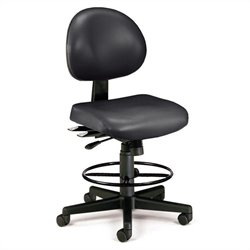 24 Hour Task Drafting Office Chair with Drafting Kit in Black