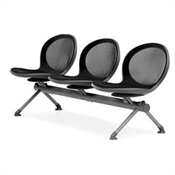 Beam Guest Chair With 3 Seats in Black