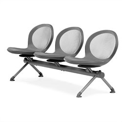 Beam Guest Chair With 3 Seats in Gray
