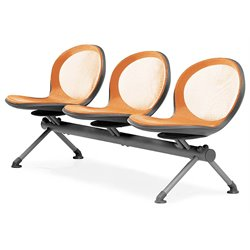 Beam Guest Chair With 3 Seats in Orange