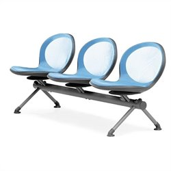 Beam Guest Chair With 3 Seats in Sky Blue