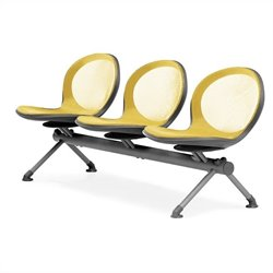 Beam Guest Chair With 3 Seats in Yellow