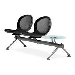 Beam Guest Chair With 2 Seats And Table in Black