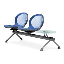 Beam Guest Chair With 2 Seats And Table in Marine
