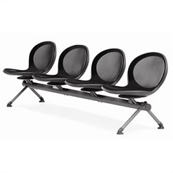 Beam Guest Chair With 4 Seats in Black