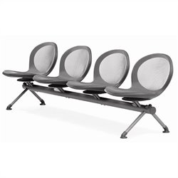 Beam Guest Chair With 4 Seats in Gray