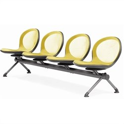 Beam Guest Chair With 4 Seats in Yellow