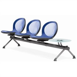 Beam Guest Chair With 3 Seats And Table in Marine