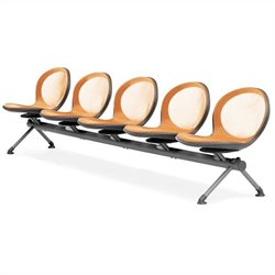 Beam Guest Chair With 5 Seats in Orange