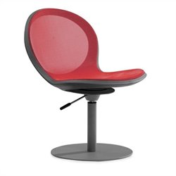 Swivel Base Office Chair with Gaslift in Red