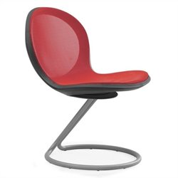Circular Base Office Chair in Red