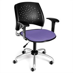 Swivel Office Chair with Arms in Lavender