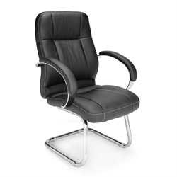 OFM Stimulus Series Leatherette Mid Back Office Chair in Black