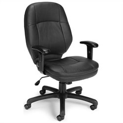 Ergonomic Task Office Chair in Black with Adjustable Arms
