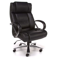Avenger Big and Tall Leather Swivel Office Chair