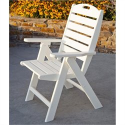 Polywood Nautical Highback Outdoor Chair in White