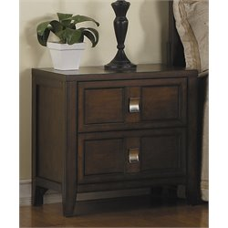 Samuel Lawrence Bayfield 2 Drawer Nightstand in Brown