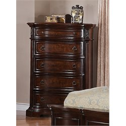 Samuel Lawrence Edington 5 Drawer Chest in Brown