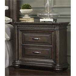 Samuel Lawrence Grand Manor 2 Drawer Nightstand in Brown
