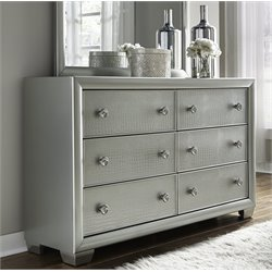 Samuel Lawrence Celestial 6 Drawer Dresser in Silver-DD