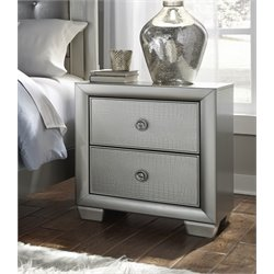 Samuel Lawrence Celestial 2 Drawer Nightstand in Silver
