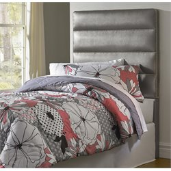 Samuel Lawrence Jordan Upholstered Panel Headboard in Silver-I