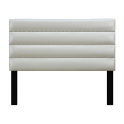 Samuel Lawrence Jordan Upholstered Panel Headboard in White-H