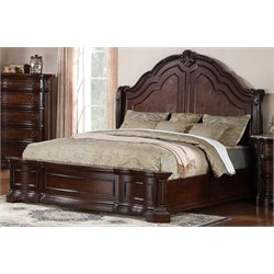 Samuel Lawrence Edington Sleigh Bed with Rails in Brown-N