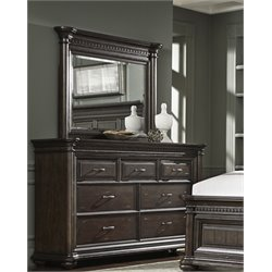 Samuel Lawrence Grand Manor 7 Drawer Dresser in Brown-CC
