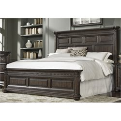Samuel Lawrence Grand Manor Panel Bed with Rails in Brown-O