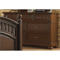 Samuel Lawrence Furniture Expedition Drawer Dresser in Cherry