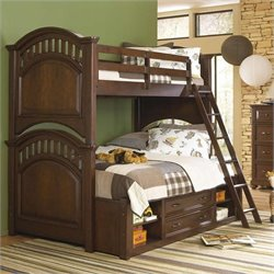 Samuel Lawrence Furniture Expedition Bunk Bed in Cherry