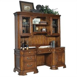 Samuel Lawrence Madison Office Desk with Hutch in Brown