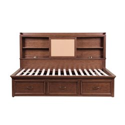 Samuel Lawrence Expedition Full Bookcase Mates Bed in Brown