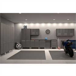 Ulti-MATE Garage 12 Piece Cabinet Kit in Graphite Grey and Black