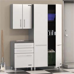 Ulti-MATE Storage 3 Piece Cabinet Kit in Starfire White