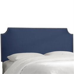 Skyline Notched Nail Button Headboard in Lazuli Blue-30