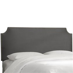 Skyline Notched Nail Button Headboard in Charcoal-33