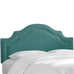 Skyline Nail Button Arched Headboard in Laguna-58