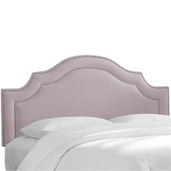 Skyline Nail Button Arched Headboard in Smokey Quartz-59