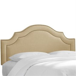 Skyline Nail Button Arched Headboard in Sandstone-60