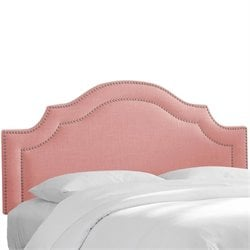 Skyline Nail Button Arched Headboard in Petal-61