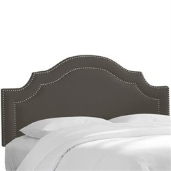 Skyline Nail Button Arched Headboard in Slate-62
