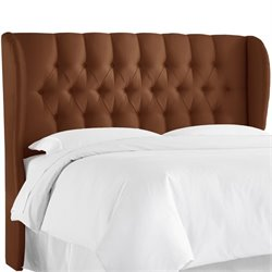 Skyline Tufted Wingback Headboard in Chocolate-76