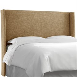 Skyline Wingback Headboard in Zuma Linen-91