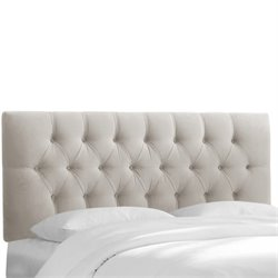 Skyline Tufted Headboard in Light Gray-105